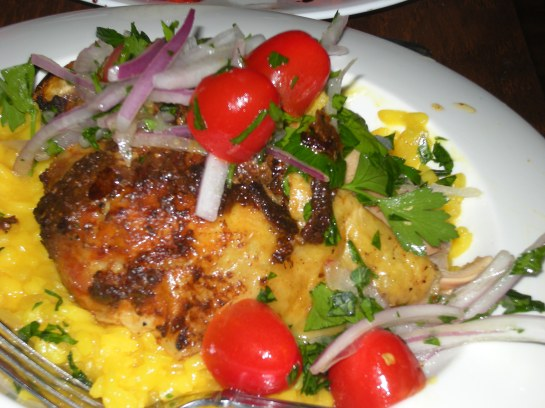 Chicken Diavolo with Risotto Milanese