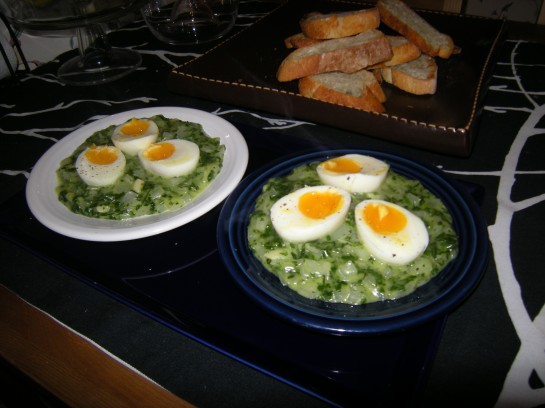 Soft-Boiled Eggs with Salsa Verde