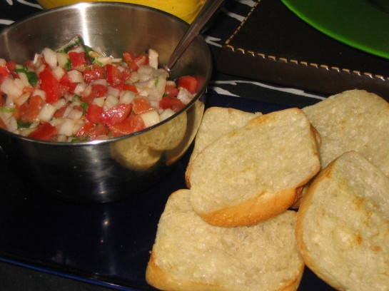 Tomato and Sweet Onion Salsa with Ciabatta Rolls
