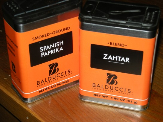 Spanish Paprika and Zahtar (otherwise known as Za'atar) Spice, from Balducci's