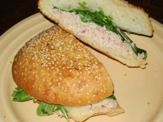 Grilled Tuna, Swiss and Arugula Panini