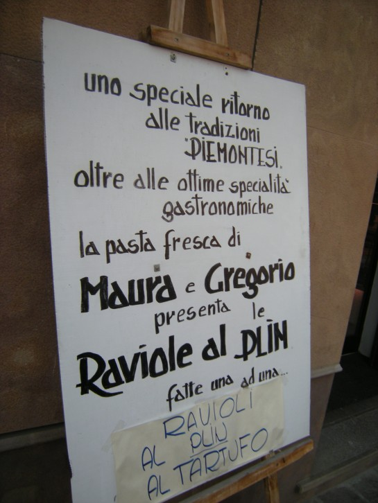 The day's specials...