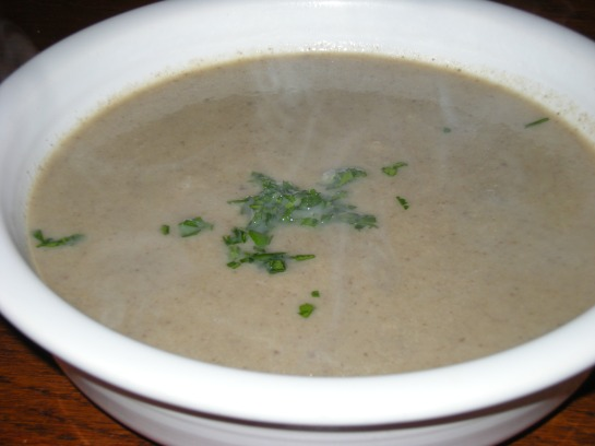 Mushroom Soup with Sherry