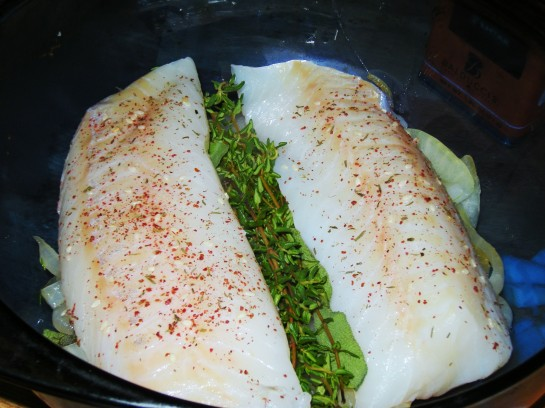 Cod fillets, fresh from the oven