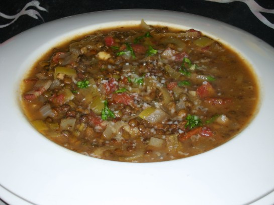 Leek and Lentil Soup