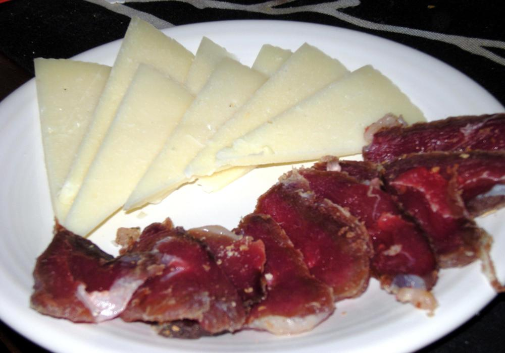 Sliced Duck Ham and Manchego