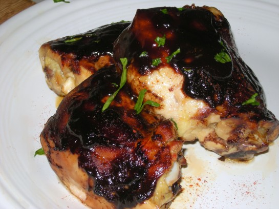 Baked Chicken Thighs with Barbecue Sauce