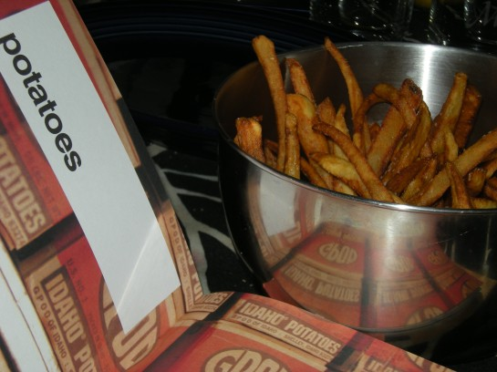 Pommes Frites with the Les Halles Cookbook