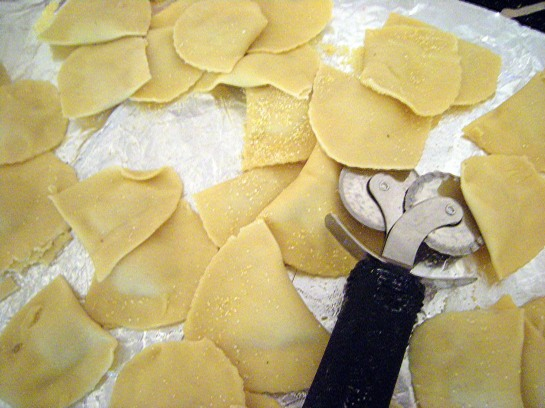 Shrimp Mezzaluna Raviolis, prior to cooking